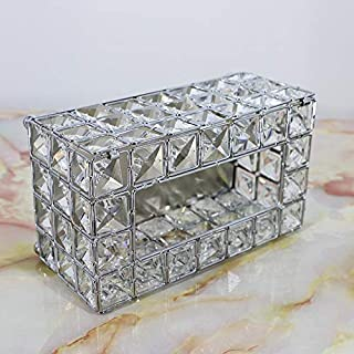 JLCKS Tissue box storage box shiny gold silver cellophane container diner hotels (Color : 9)