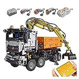 YYQIANG Bloques de construcción Control Remoto Camión neumático motorizado Carro de automóviles Bloques de construcción de Ladrillos Ingeniería Vehículo RC Juguetes Niños Aficiones Infantiles