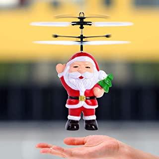 Christmas Santa Claus Helicopter LED Light Toy, Witspace Christmas Electric Infrared Sensor Flying Ball