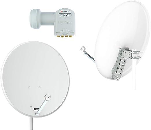 Opticum X80 de Antena parabólica de 80 cm con convertidor de ...