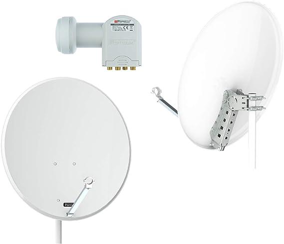 Opticum X80 Satelliten Antenne 80 Cm Stahl Lichtgrau Elektronik