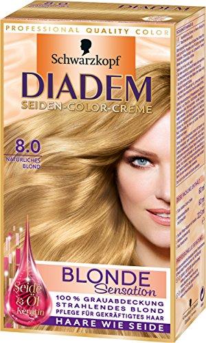 Diadem Seiden-Color-Creme 8.0 Natürliches Blond Blonde Sensation Stufe 3