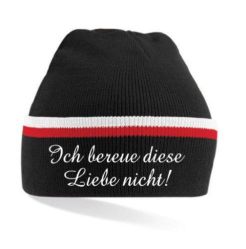 Fruit of the Loom Nürnberg Ultras Ich bereue Diese Liebe Nicht! Mütze|schwarz gestreift|KT20