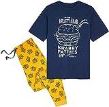 SpongeBob Pijama Hombre, Conjunto Camiseta Pantalon, Ropa de Dormir Hombre (2XL)
