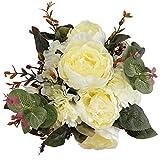 StarLifey Artificiale Peonia Bouquet Fiori di Seta Centrotavola Disposizione Decorazioni Floreali per la casa e Il Matrimonio Fiori Finti