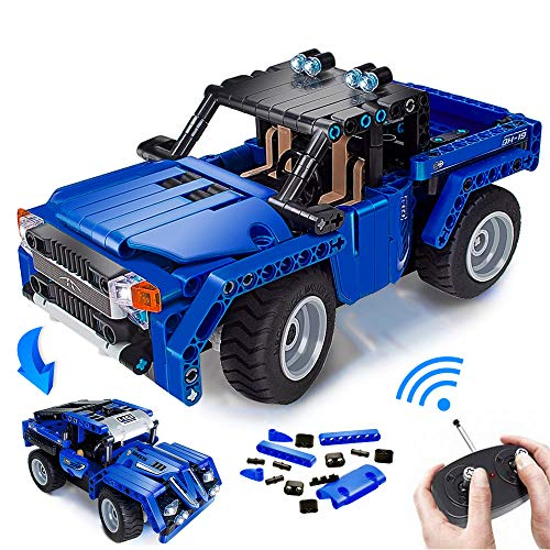 VERTOY Remote Control Building Kits, STEM Toys for Boys 6-12 Year Old, Educational Construction Set for Pickup Truck or Racing Car Model, Best Birthday Gifts for Kids Age 6 7 8 9 10-12