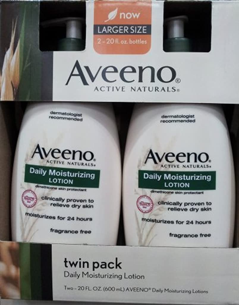 あいまいな列挙する極めてAveeno Active Naturals Daily Moisturizing Lotion, NEW 2 pack of 20 FL oz Pump [並行輸入品]