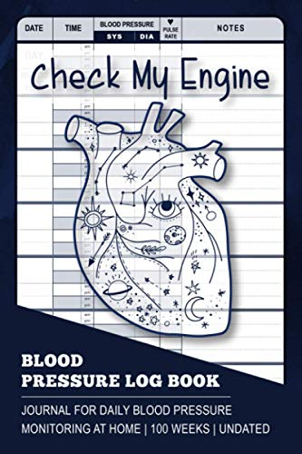 Blood Pressure Log Book: Blood Pressure Tracker Journal in Diary Format for Daily Monitoring & Recording BP at Home | 100 Weeks/2 years | Undated