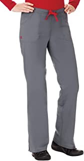 White Swan B.I.O. Everyday Scrub Pant, Pewter/Red Size 2X