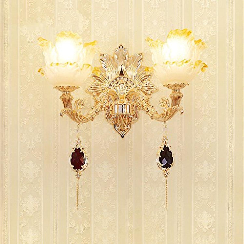 StiefelU LED Wandleuchte nach oben und unten Wandleuchten Crystal LED Wandleuchte Wohnzimmer Wand Bett im Schlafzimmer, zinklegierung Wandleuchten Wandleuchten Dual head Wandleuchten, dreifarbige LED