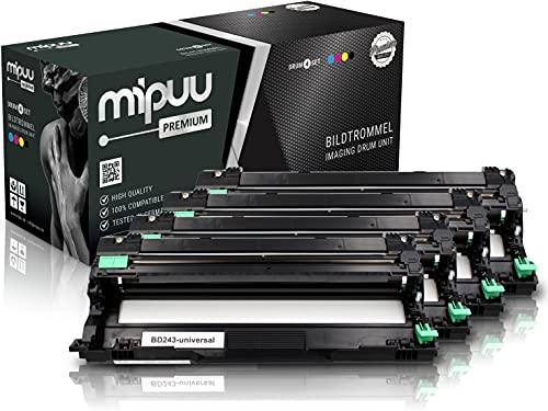 Mipuu Trommeleinheit kompatibel zu Brother DR-243CL (4er-Pack) für DCP-L3550cdw HL-L3210cw HL-3230cdw MFC-L3770cdw MFC-L3750cdw MFC-L3730cdn HL-L3270cdw DCP-L3510cdw Farb-Laserdrucker