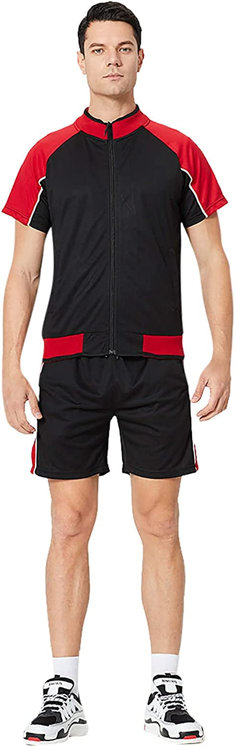 VEKDONE 2021 Mens 2 Piece Outfit Casual Running Jogging Suit Summer Short Sleeve T-Shirt and Shorts Set Men's Tracksuit