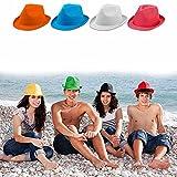ANTEVIA - Lot de 4 Chapeaux Panama Unisexe pour Adulte   Plus DE 30 MODÈLES   Femme Homme Paille   Matière : Polyester  Couleurs : Orange Bleu Blanc Violet (Braz L1)