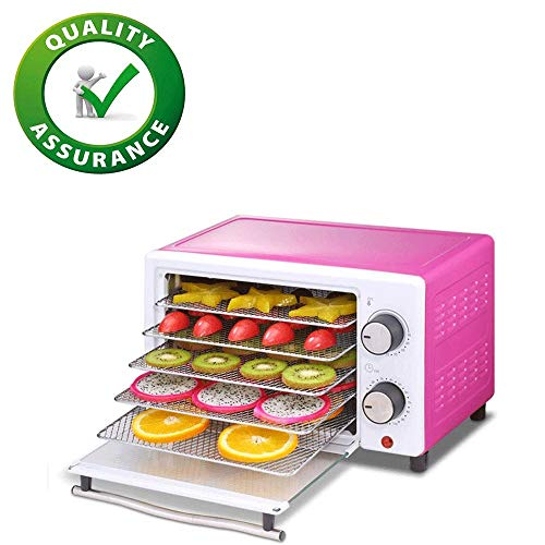 RVS 5 Lagen voedsel drogen, 30~75 ° C Temperature Setting, Max 12u, Fruit droogmachine, Dehydrator Machine for Fruit, groenten, vlees en Chili, BPA-vrij, 300W