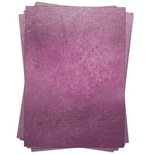 50 Blatt Briefpapier (A4) | Glitzerwand-Look Lila | Motivpapier | edles Design Papier | beidseitig bedruckt | Bastelpapier | 90 g/m²
