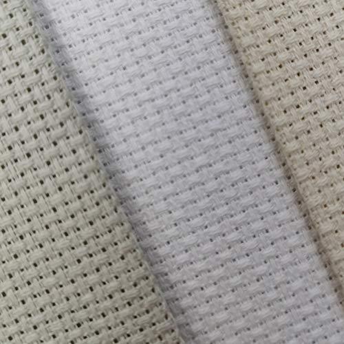 KCS Aida-Stoff aus Baumwolle, Kreuzstich, 30,5 x 45,7 cm, 14 Ct, Perlgrau + Weiß + naturfarben