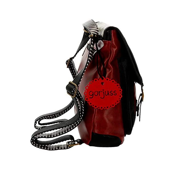 51zw57CLy5L. SS600  - Mochila pequeña Gorjuss con bandolera Little Red Riding Hood