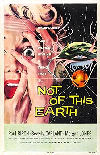 SIRIUSART Lienzos Cuadros Decorativo Not of This Earth Movie Art Print Poster Decoración de la Pared del hogar 60x90cm
