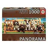Educa Serie Panorama. Perritos en el banco. Puzzle panorámico de 1000 piezas. Ref. 19038, multicolor