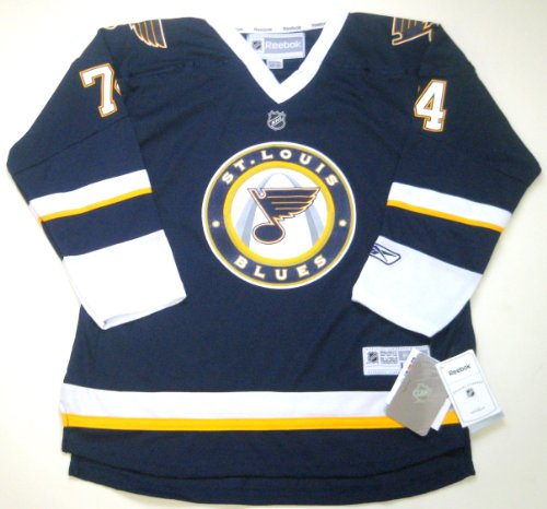 Reebok T.J Oshie St. Louis Blues NHL Youth Navy Blue Official Replica Alternate 3rd Jersey (M)