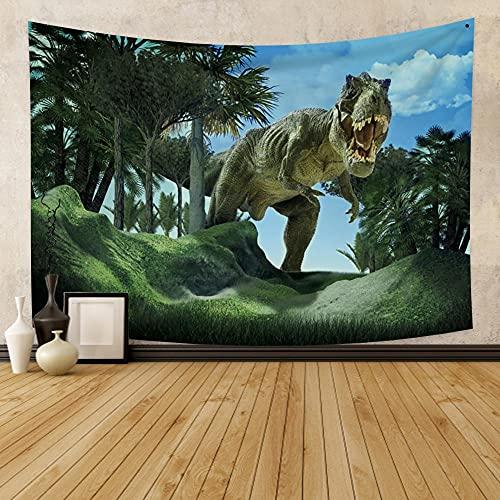 Pfirsichhaut Tapisserie Anime Dinosaurier Tier Jurassic Kinder dekorative Hintergr& Anhänger Wand Renovierung Dekoration 180x230cm / XL