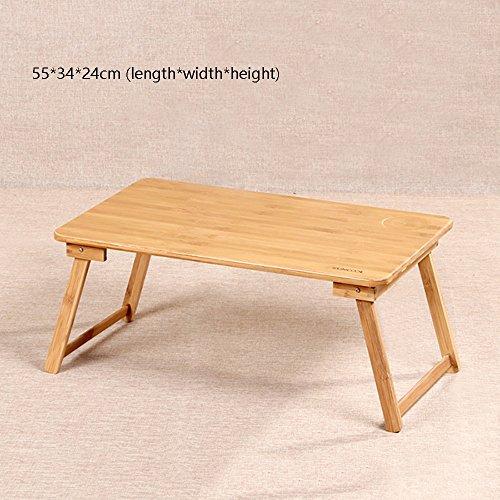 XIA Première table de casse-croûte se pliante de Housewares - table en bois de MDF en bois se pliante portative en bois pour la partie intérieure extérieure de pique-nique (Couleur : 55 * 34 * 24cm)