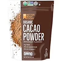 BetterBody Foods Organic Cacao Powder, 16 Ounce