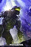 Notebook: Master Chief Spartan , Journal for Writing, College Ruled Size 6' x 9', 110 Pages