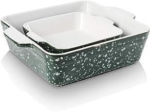 KOOV Bakeware Set, Square Brownie Pan, 8 x 8 inch Ceramic Baking Dish Set, Square Baking Pan for Cooking, Cake Dinner, Kit...