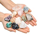 turquoise healing crystal - Top Plaza Mineral Rock Variety Tumbled Rough Gemstone Meteorite Fragment Healing Energy Raw Crystal Collection Bulk(5 pcs Rough Irregular Shape Stones)