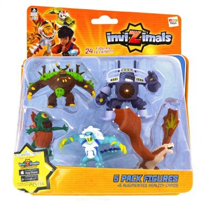 IMC Toys 30039 - Pack 5 Figuras Invizimals - JUNGLEUS - VORTEX - CYCLOPS - ICELION - ROCK DRAGON: Amazon.es: Juguetes y juegos