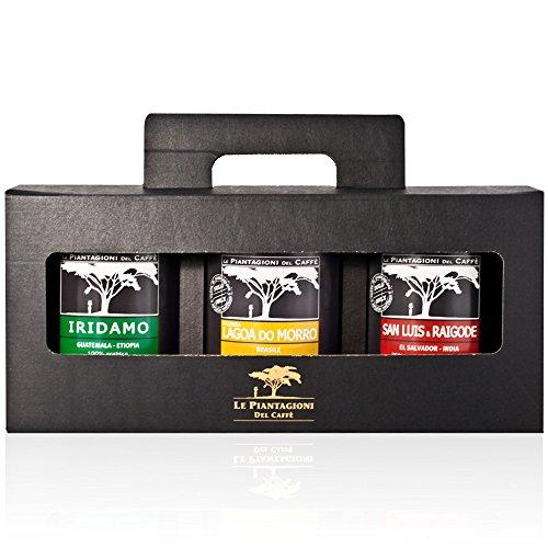 Arabica Spezialtät gemahlener Plantagen-Kaffee Geschenkbox (3 x 250g)