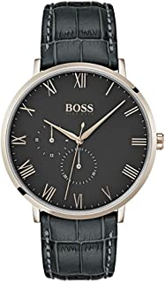 Hugo Boss Dress Watch for Men, Leather, 1513619