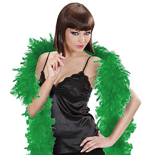 WIDMANN- Sciarpa con Piume Verde Donna, Multicolore, taglia unica, 0373V