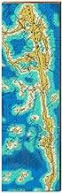 MILL WOOD ART Key Largo, Florida Map Home Decor Art Print on Real Wood (9.5