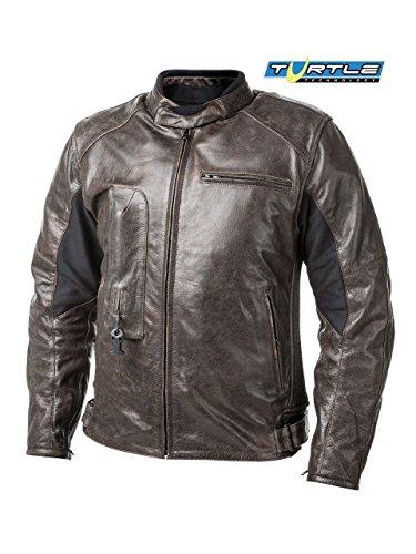 HELITE piel Airbag chaqueta en marrón (M)