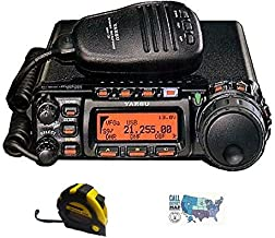 Bundle - 3 Items - Includes Yaesu FT-857D HF/6M/2M/70CM 100W Mobile Radio with the New Radiowavz Antenna Tape (2m - 30m) and HAM Guides Quick Reference Card