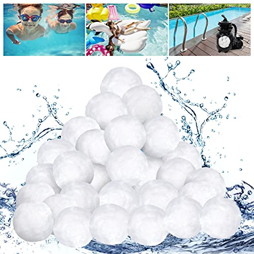 Urslif Filterbälle Pool 700g, Filter Balls ersetzen Filtersand, Filteranlage Filterball, Poolfilter, Schwimmbad und Poolreinigung Zubehör