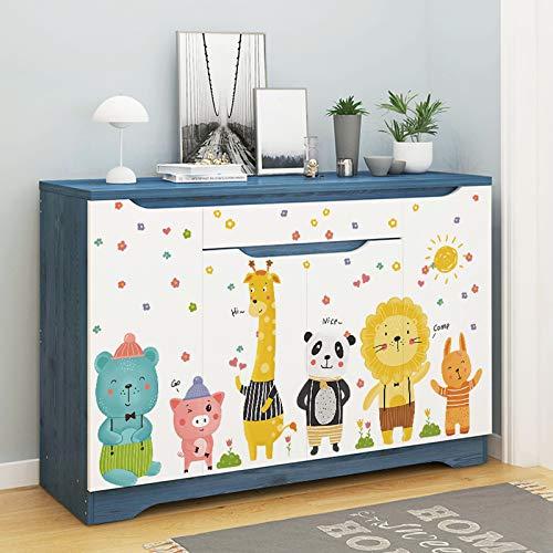 DSSJ Dibujos Animados pequeños Patrones Pegatinas Decorativas Zapatero Armario Puerta 3D estéreo Pegatinas de Pared habitación de los niños Dormitorio Papel de Pared Autoadhesivo