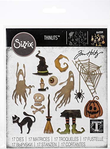 Sizzix Frightful Things Thinlits Die Set Tim Holtz, 17 Pack
