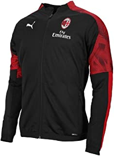 adidas 2019-2020 AC Milan Puma Poly Training Jacket (Black)