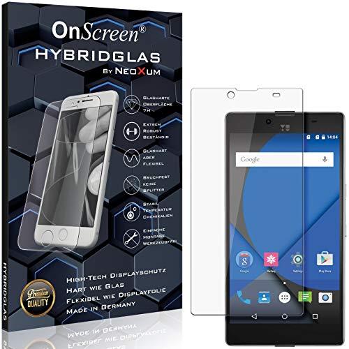OnScreen Schutzfolie Panzerglas kompatibel mit YU Yuphoria Panzer-Glas-Folie = biegsames HYBRIDGLAS, Bildschirmschutzfolie, splitterfrei, MATT, Anti-Reflex - entspiegelnd