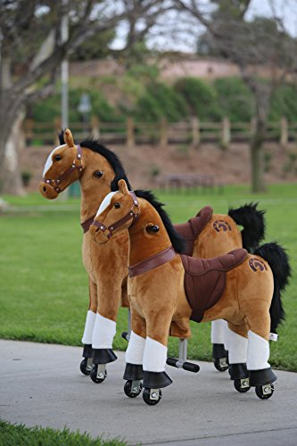 Medallion - My Pony Ride On Real Walking Horse for Children 5 to 12 Years Old or Up to 110 Pounds (Color Medium Brown Horse) for Boys and Girls Connecticut