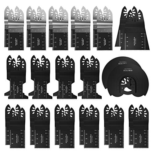Great Features Of 50PCS Mixed Wood Metal Oscillating Saw Blades Multi Tool Accessories Kit for Plast...