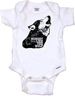 Hungry Like The Wolf Funny Baby Onesie, Bodysuit, T-Shirt | Funny Baby Gift