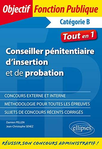 CONSEILLER PÉNITENTIAIRE D'INSERTION ET DE PROBATION PDF Books