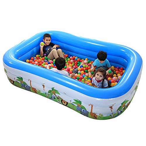 TXDY Aufblasbarer Swimmingpool für Kinder, 4~6 Personen großes aufblasbares Teich-Pool, Baby-Schwimmen-Float-Pool-Spielzeug mit Mama-Schwimmen für im Freien, Strand