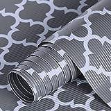 Cahomo 44,5 x 300 cm (2 rollos), alfombrilla antideslizante para cajones de EVA resistente al agua, no pegajosa, para estanterías, armarios, cajones, frigoríficos, color gris