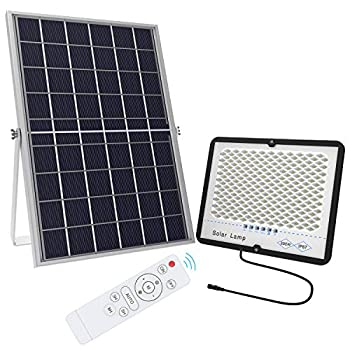 TENKOO 300W LED Solar Flood Light Dusk to Dawn Solar Powered Street Light Outdoor Waterproof IP67 with Remote Control Solar Security Light for Backyard|Garage|Driveway|Basketball Court