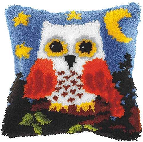 Kits de Ganchillo Kit de gancho de pestillo Bricolaje bordado cojín cobertizo conjunto encantador búho patrón costura crochet hilado Kit de punto de cruz para niños adultos decoración del hogar 17